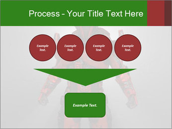 Scary Red Robot PowerPoint Templates - Slide 93