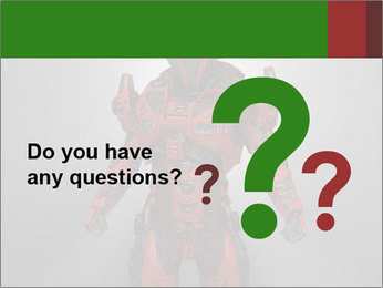 Scary Red Robot PowerPoint Templates - Slide 96