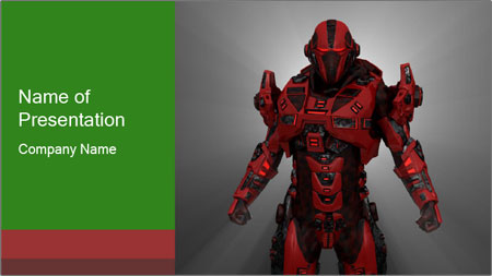 Scary Red Robot PowerPoint Template