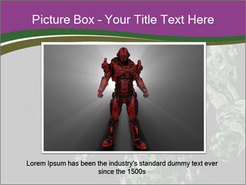 Green Robot PowerPoint Template - Slide 15