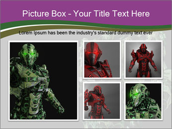 Green Robot PowerPoint Template - Slide 19