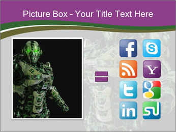 Green Robot PowerPoint Template - Slide 21