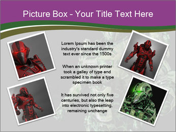 Green Robot PowerPoint Template - Slide 24