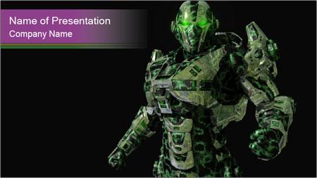 Green Robot PowerPoint Template