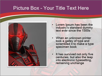 Futuristic Red Robot PowerPoint Template - Slide 13