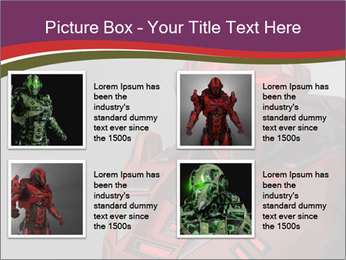 Futuristic Red Robot PowerPoint Template - Slide 14