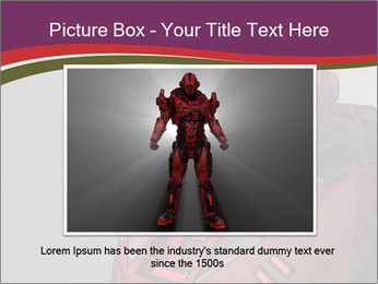 Futuristic Red Robot PowerPoint Templates - Slide 15