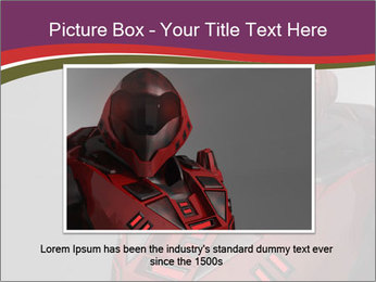 Futuristic Red Robot PowerPoint Templates - Slide 16