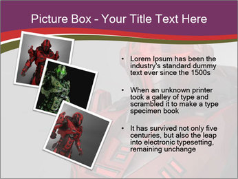 Futuristic Red Robot PowerPoint Templates - Slide 17