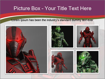Futuristic Red Robot PowerPoint Template - Slide 19