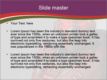Futuristic Red Robot PowerPoint Templates - Slide 2