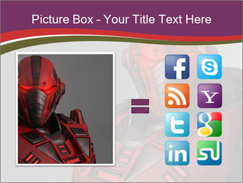 Futuristic Red Robot PowerPoint Template - Slide 21