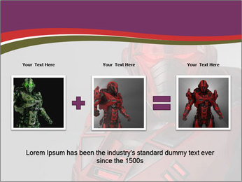 Futuristic Red Robot PowerPoint Templates - Slide 22