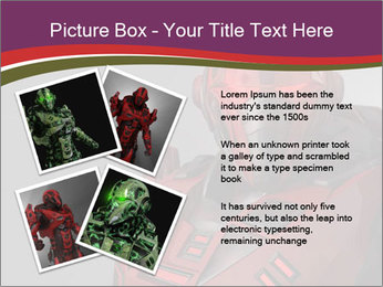 Futuristic Red Robot PowerPoint Template - Slide 23