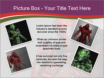 Futuristic Red Robot PowerPoint Template - Slide 24