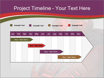 Futuristic Red Robot PowerPoint Templates - Slide 25