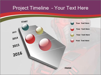Futuristic Red Robot PowerPoint Templates - Slide 26