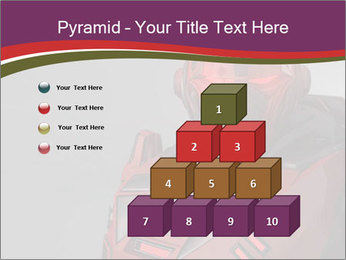 Futuristic Red Robot PowerPoint Templates - Slide 31
