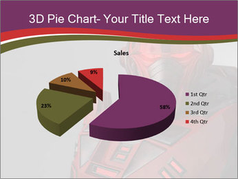 Futuristic Red Robot PowerPoint Template - Slide 35