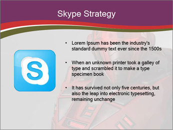 Futuristic Red Robot PowerPoint Templates - Slide 8