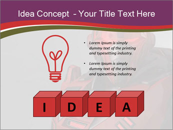 Futuristic Red Robot PowerPoint Templates - Slide 80