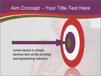 Futuristic Red Robot PowerPoint Templates - Slide 83
