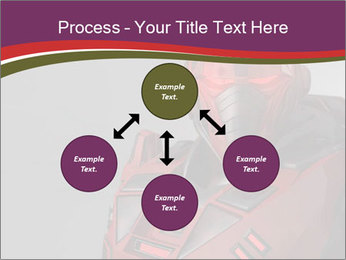 Futuristic Red Robot PowerPoint Templates - Slide 91