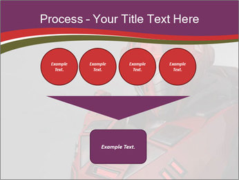 Futuristic Red Robot PowerPoint Templates - Slide 93