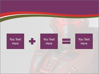 Futuristic Red Robot PowerPoint Templates - Slide 95