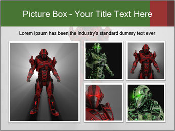 Robot Spreading Bright Light PowerPoint Templates - Slide 19