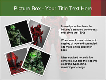 Robot Spreading Bright Light PowerPoint Templates - Slide 23