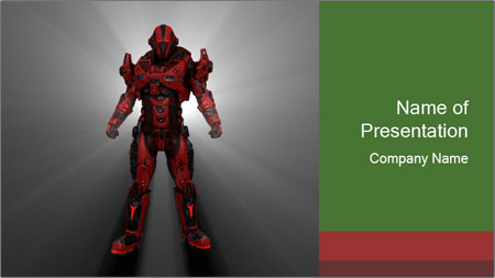 Robot Spreading Bright Light PowerPoint Template