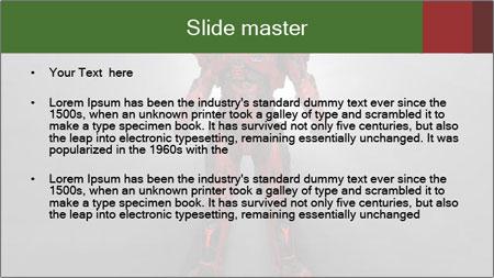 Robot Spreading Bright Light PowerPoint Template - Slide 2