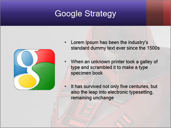 Red Cyborg Robot PowerPoint Template - Slide 10