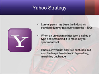 Red Cyborg Robot PowerPoint Template - Slide 11