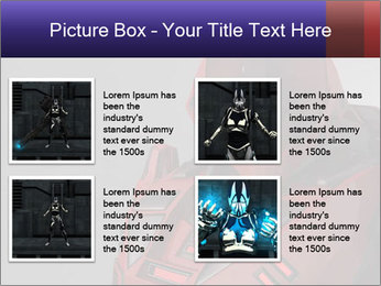 Red Cyborg Robot PowerPoint Template - Slide 14
