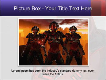 Red Cyborg Robot PowerPoint Template - Slide 15