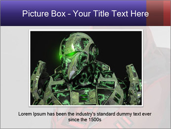Red Cyborg Robot PowerPoint Template - Slide 16