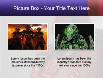 Red Cyborg Robot PowerPoint Template - Slide 18