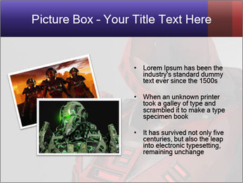 Red Cyborg Robot PowerPoint Template - Slide 20