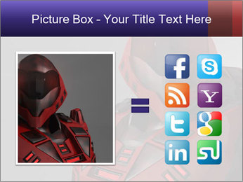 Red Cyborg Robot PowerPoint Template - Slide 21