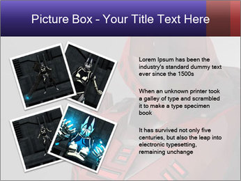 Red Cyborg Robot PowerPoint Template - Slide 23