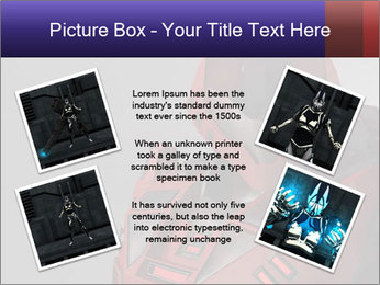 Red Cyborg Robot PowerPoint Template - Slide 24