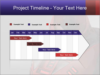 Red Cyborg Robot PowerPoint Template - Slide 25