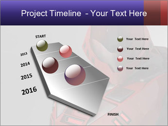 Red Cyborg Robot PowerPoint Template - Slide 26