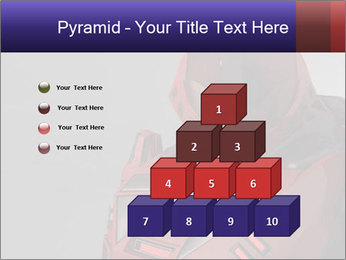 Red Cyborg Robot PowerPoint Template - Slide 31