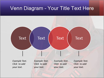 Red Cyborg Robot PowerPoint Template - Slide 32
