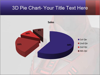 Red Cyborg Robot PowerPoint Template - Slide 35