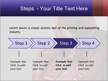 Red Cyborg Robot PowerPoint Template - Slide 4