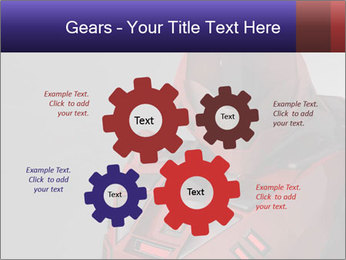 Red Cyborg Robot PowerPoint Template - Slide 47
